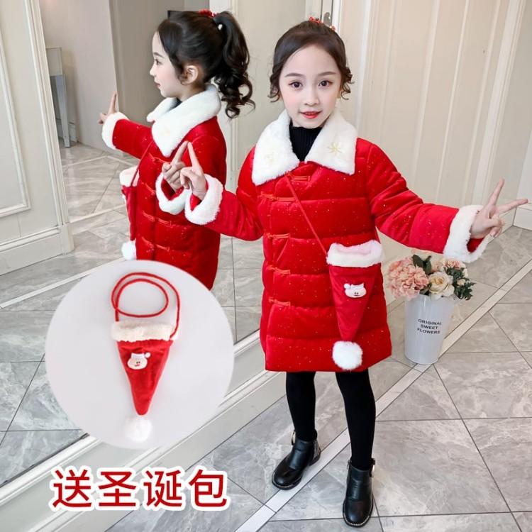 儿童圣诞服,女童圣诞棉衣定制xhm-圣诞