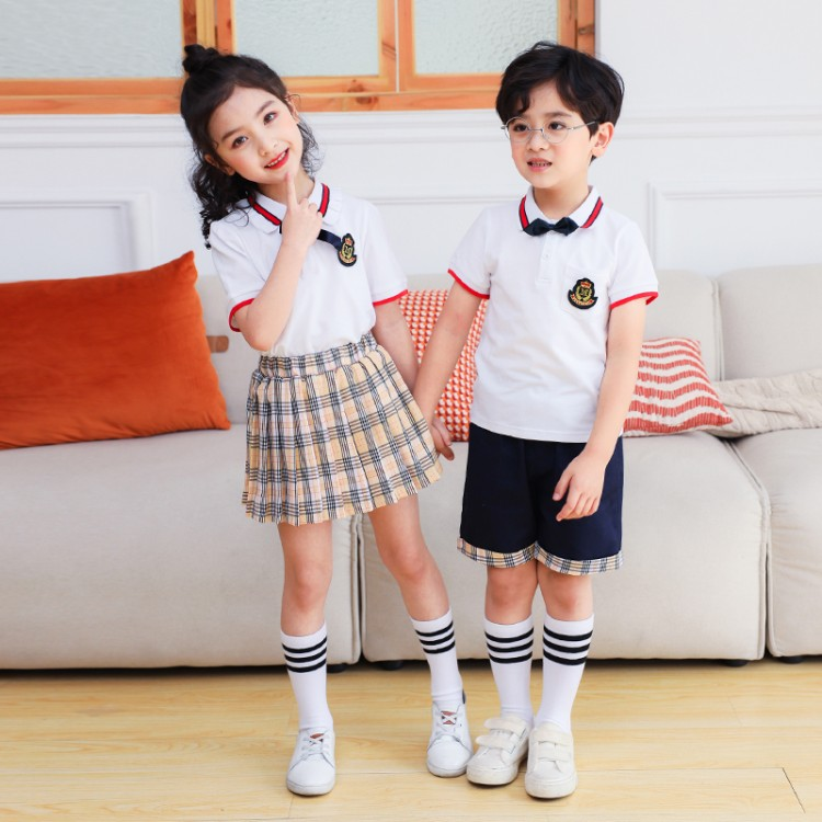 夏季小学校服,中小学校服套装