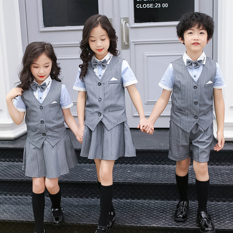 小学生正装校服,英伦校服小学生夏装